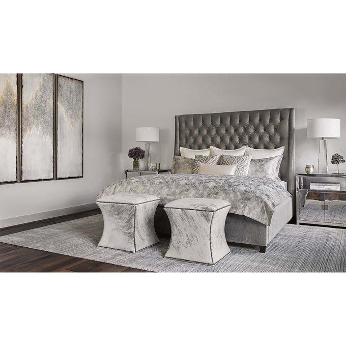 Кровать Ada пудрового цвета 160х200