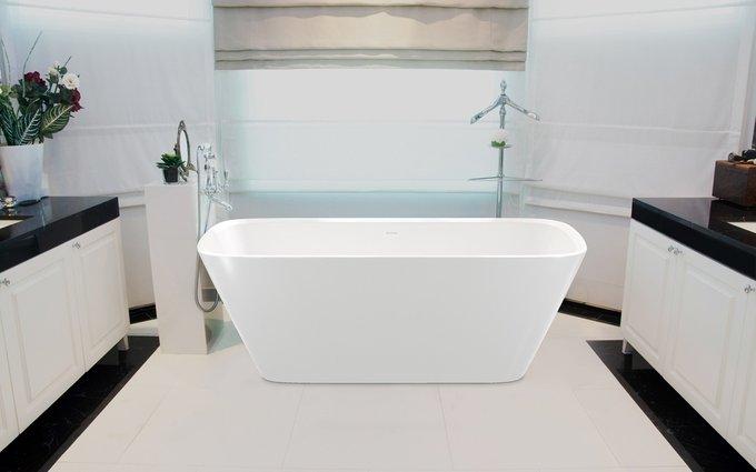 Каменная Ванна Arabella белая