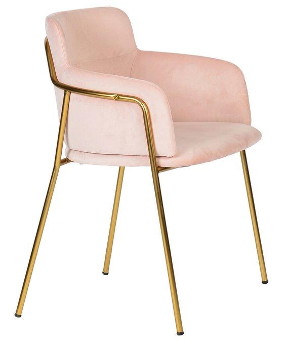 Кресло Strike Light Pink с обивкой из розового вельвета