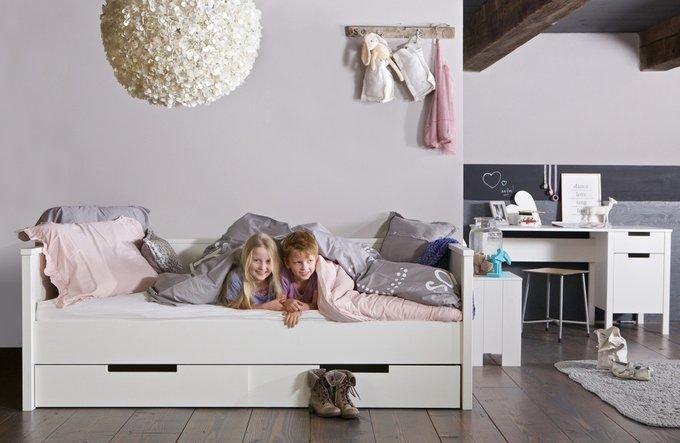 """Диван-кровать DE EEKHOORN """"JADE SOFABED WHITE UNBRUSHED"""" 90x200 см"""