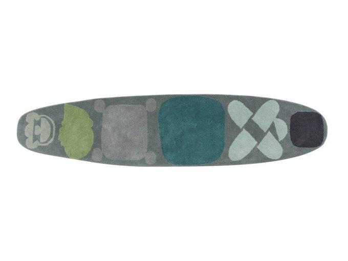 Ковер Surf Race для серфинга серого  цвета 60x270