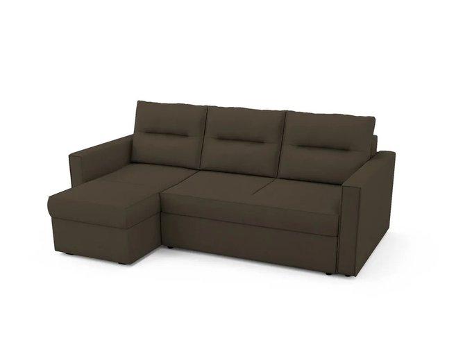 Угловой Диван-кровать Macao левый темно-коричневого цвета