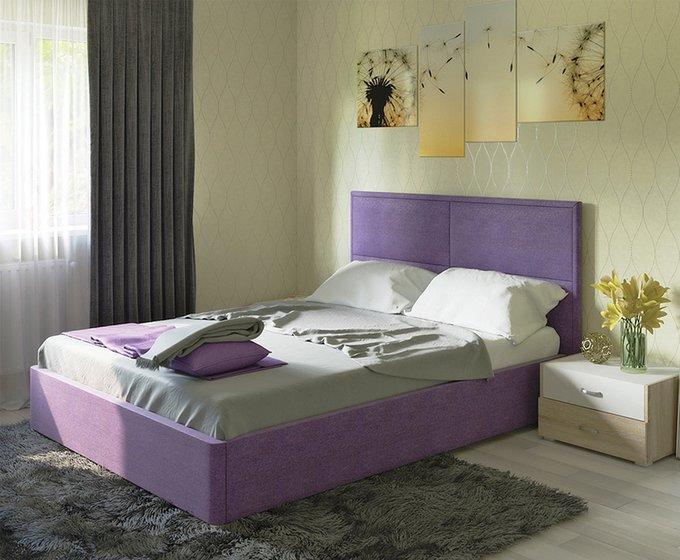 Кровать Прага фиолетового цвета с ортопедическим основанием 160х200