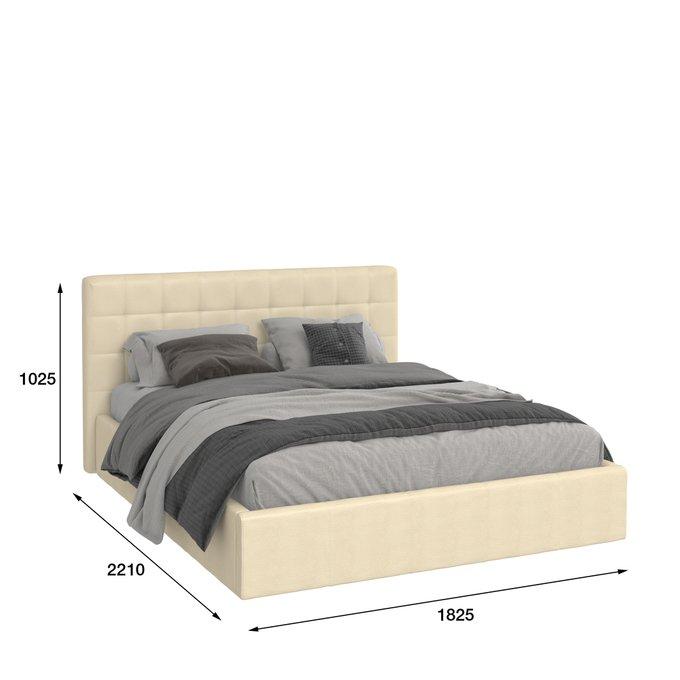 Кровать Инуа 180х200 бежевого цвета с подъемным механизмом