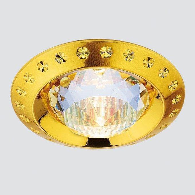 Встраиваемый светильник Classic золотого цвета