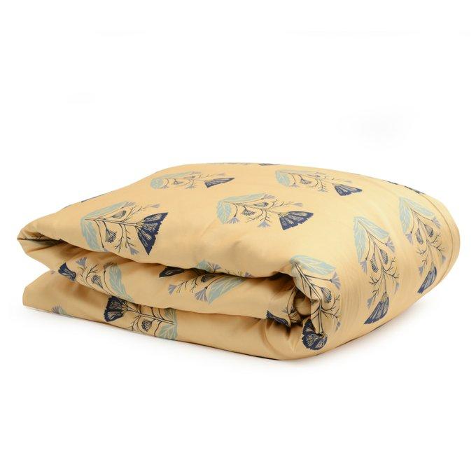 Комплект постельного белья Essential из сатина с принтом летний цветок 200х210