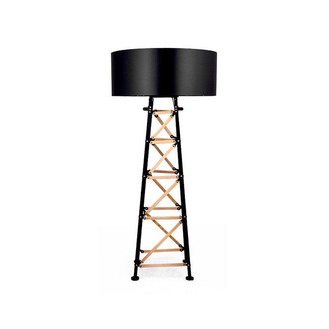 Торшер Construction с черным абажуром