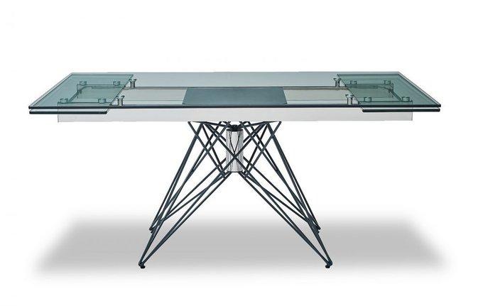 Обеденный раскладной стол со стеклянной столешницей M