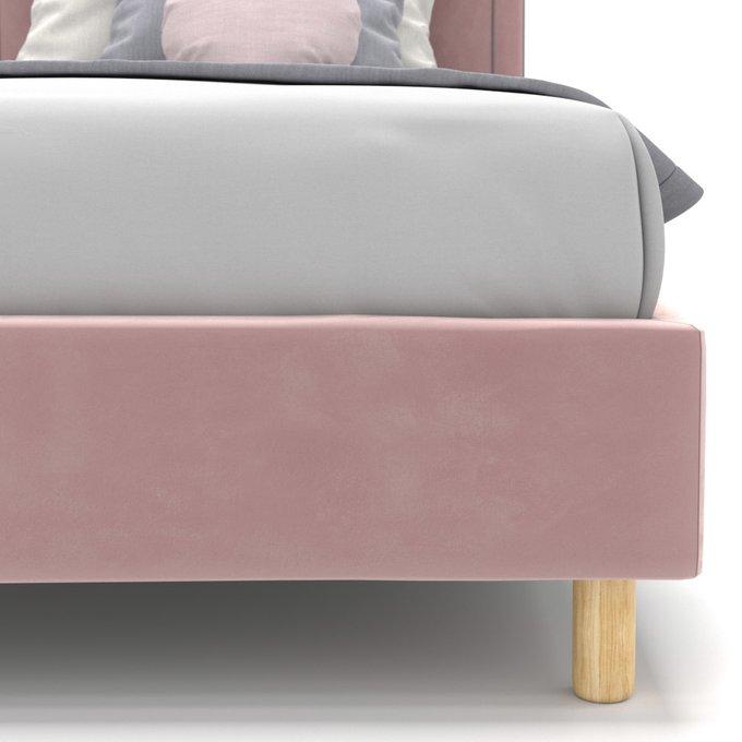 Односпальная кровать Kylie kids на ножках розового цвета 90х190