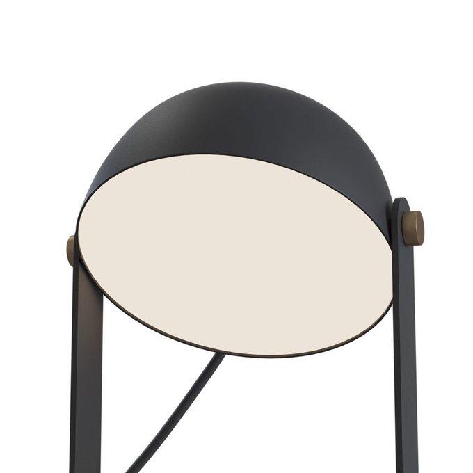Настольная лампа Barbara из металла черного цвета