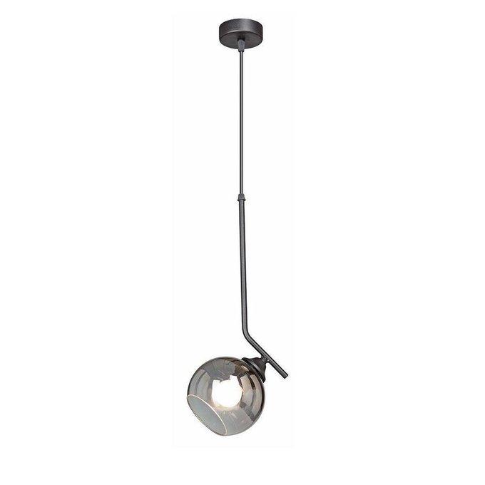 Подвесной светильник с плафоном из стекла серого цвета