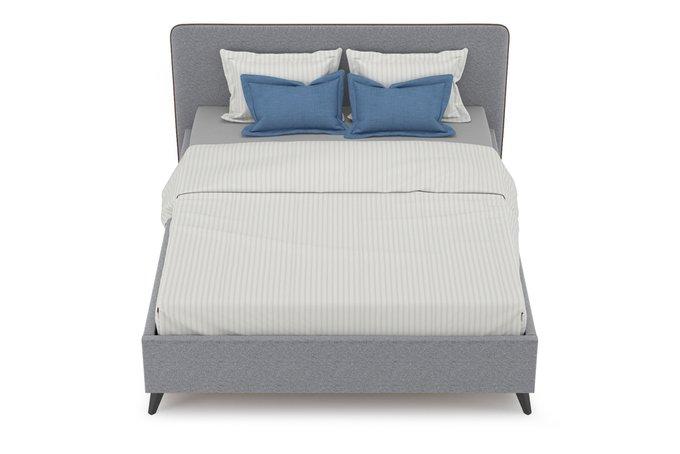 Кровать Миа 160х200 без подъемного механизма серого цвета