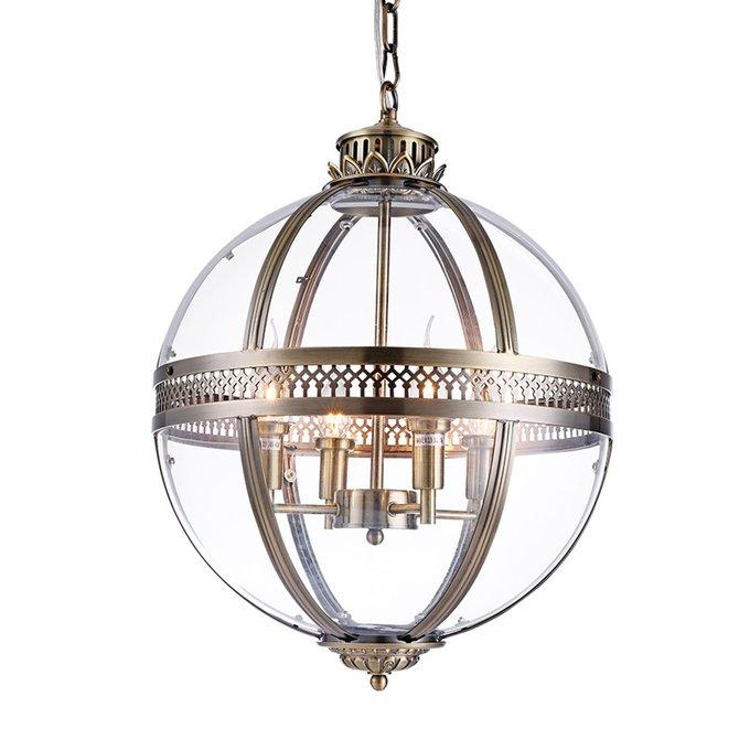 Подвесной светильник Residential из металла и прозрачного стекла