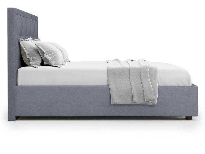 Кровать Komo 160х200 серого цвета с подъемным механизмом