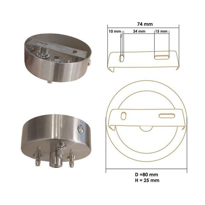 Подвесной светильник Rotor из дуба черного цвета S