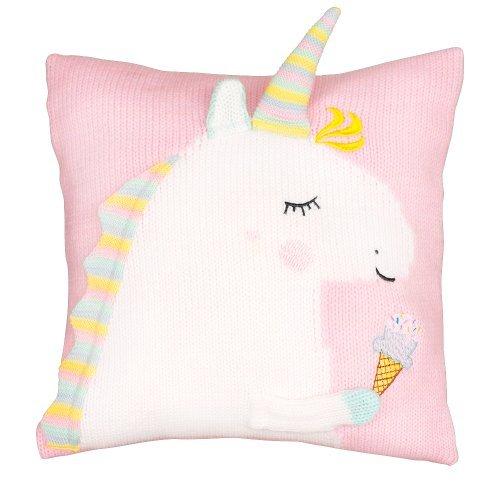 Подушка Единорог светло-розового цвета