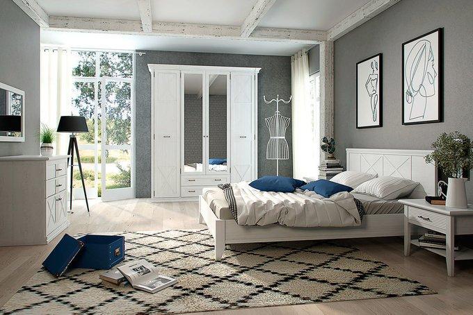 Спальня Кантри 19 в цвете Блан шене