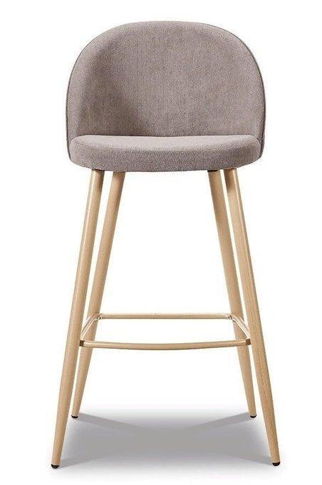 Комплект из четырех барных стульев Томас бежевого цвета