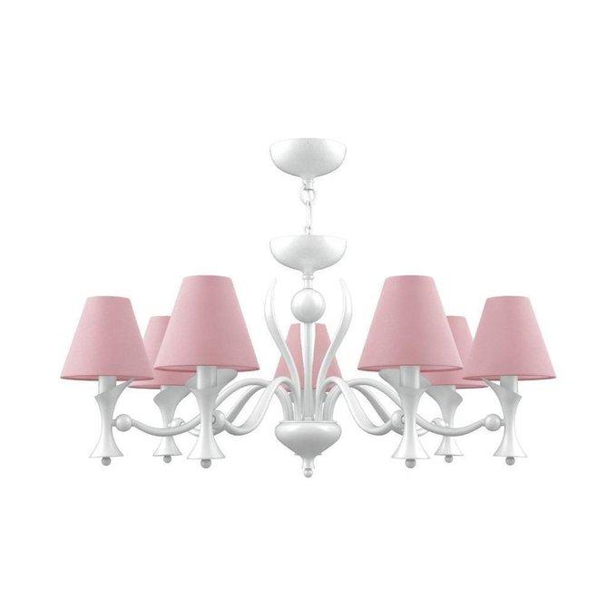 Подвесная люстра Modern с розовыми плафонами