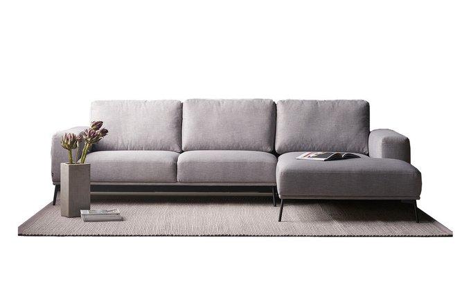 Угловой диван Mondo серого цвета