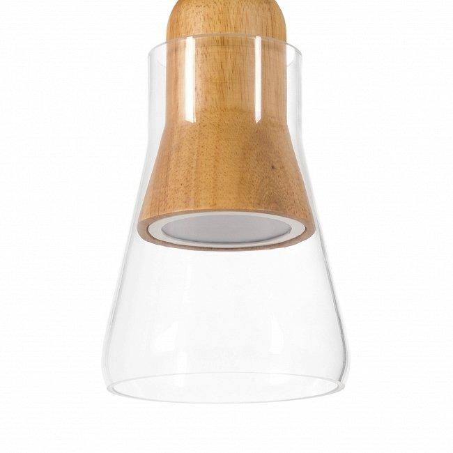 Подвесной светильник Verre из стекла и дерева
