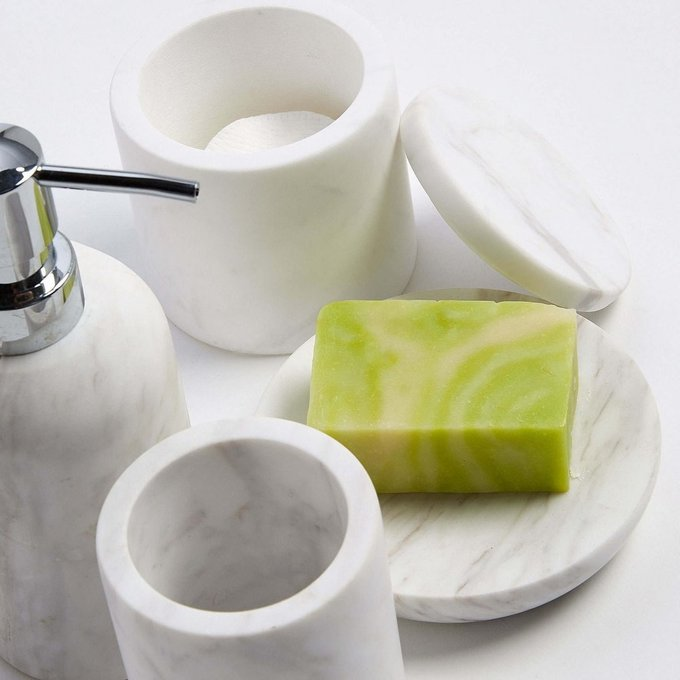 Дозатор для мыла Macadam из белого мрамора