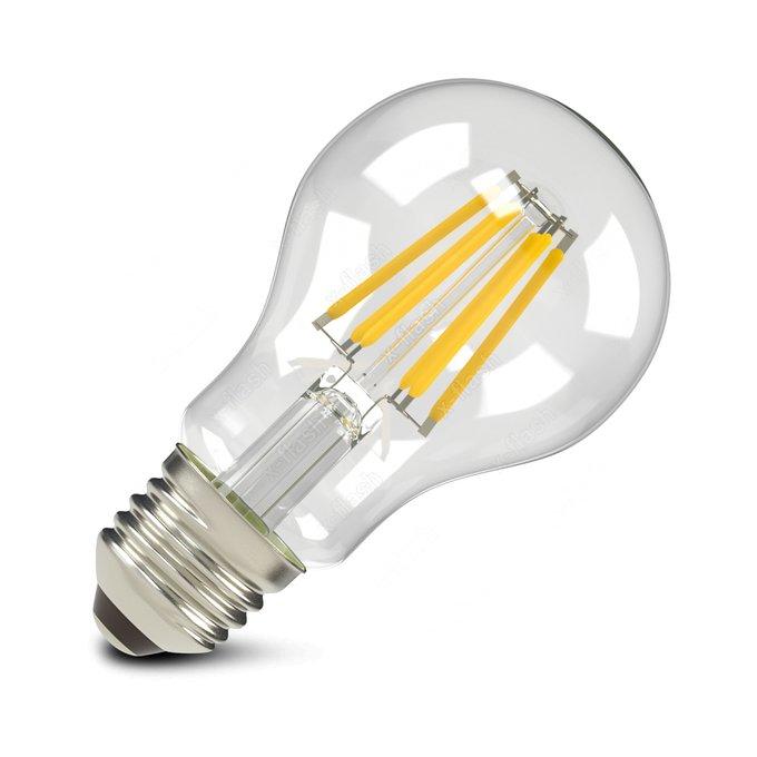 Лампа светодиодная груша E27 8W 2700K прозрачная