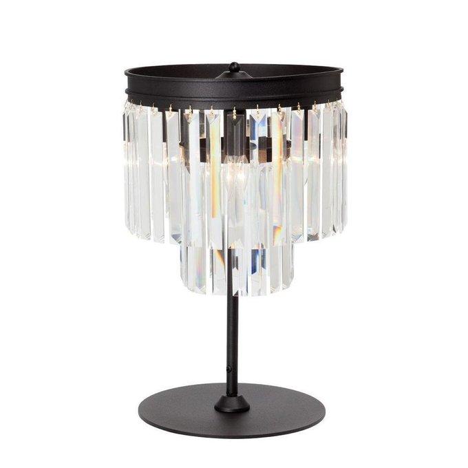 Настольная лампа с прозрачными подвесками