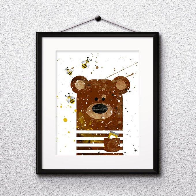 Постер Bear А4