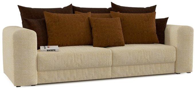 Диван-кровать прямой Мэдисон Вайт бежевого цвета