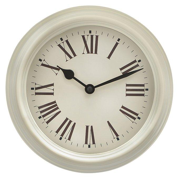 Настенные часы Roma кремового цвета