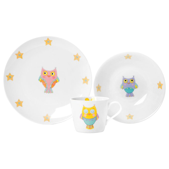 Набор посуды Cute Owl из фарфора