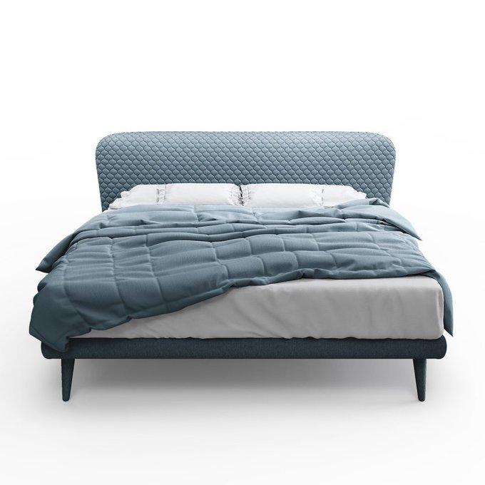 Кровать Венди серо-голубого цвета 160х200