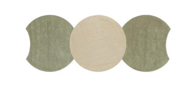 Круглый ковер Ego коричневого цвета 150 см