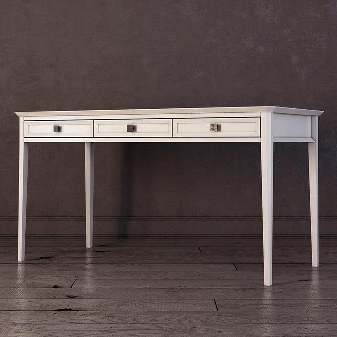 Письменный стол с тремя ящиками Ellington белого цвета