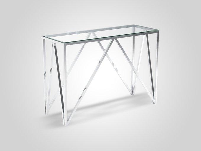 Консоль со столешницей из прозрачного стекла