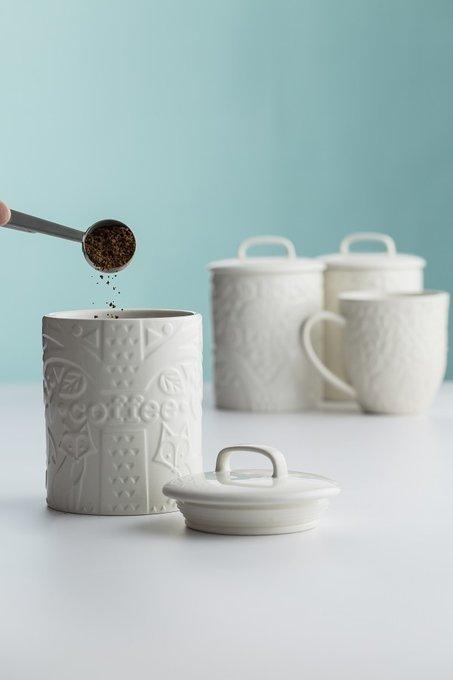 Емкость для кофе In the Forest белого цвета