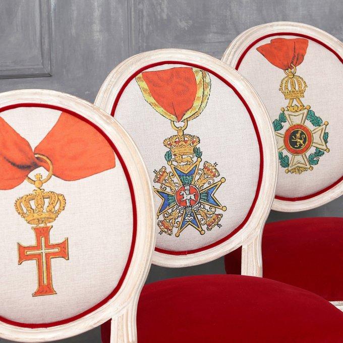 Стул Орден Генриха Льва Бавария с обивкой из бархата