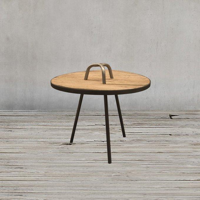 Стол приставной Физер с дубовой столешницей