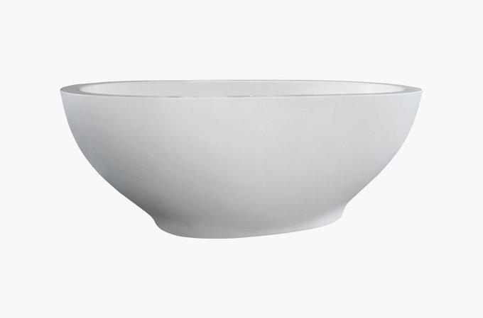 Каменная Ванна Karolina белая