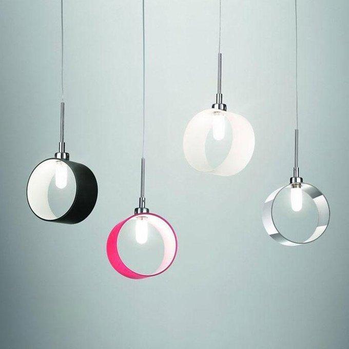 Подвесной светильник Anello BIanco из металла и стекла