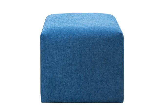 Квадратный пуф синего цвета