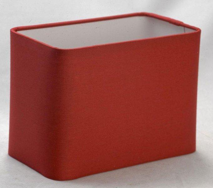 Настольная лампа Lussole Evans с красным абажуром