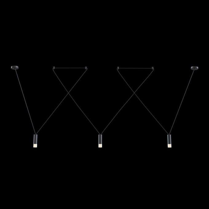 Подвесной светильник Davida черного цвета