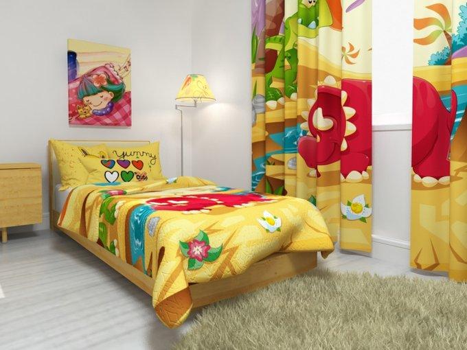 """Покрывало на детскую кровать """"Парк юрского периода"""""""