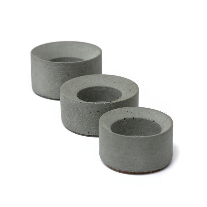 Набор из трех подсвечников GU из бетона