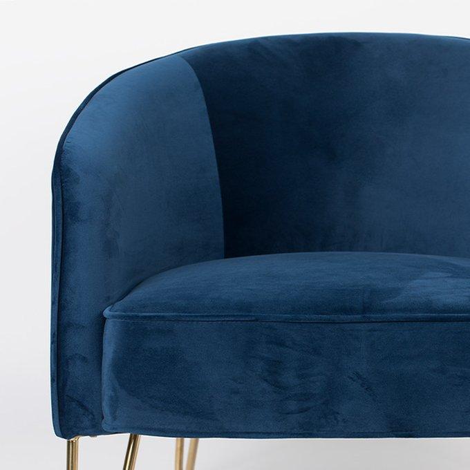 Кресло Queenalicious темно-синего цвета