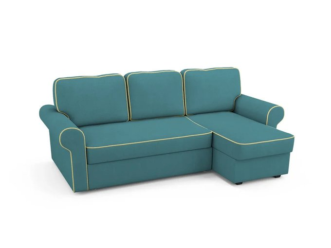 Угловой Диван-кровать Tulon правый бирюзового цвета