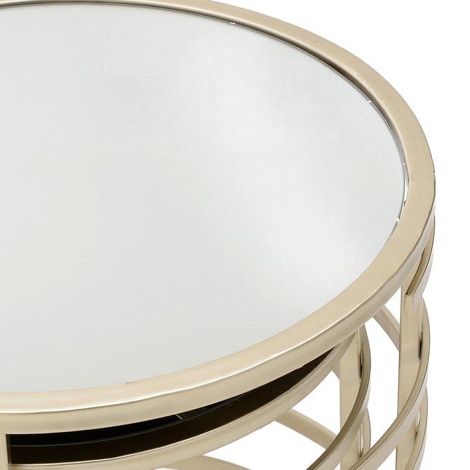 Набор из двух столиков со стеклянной столешницей