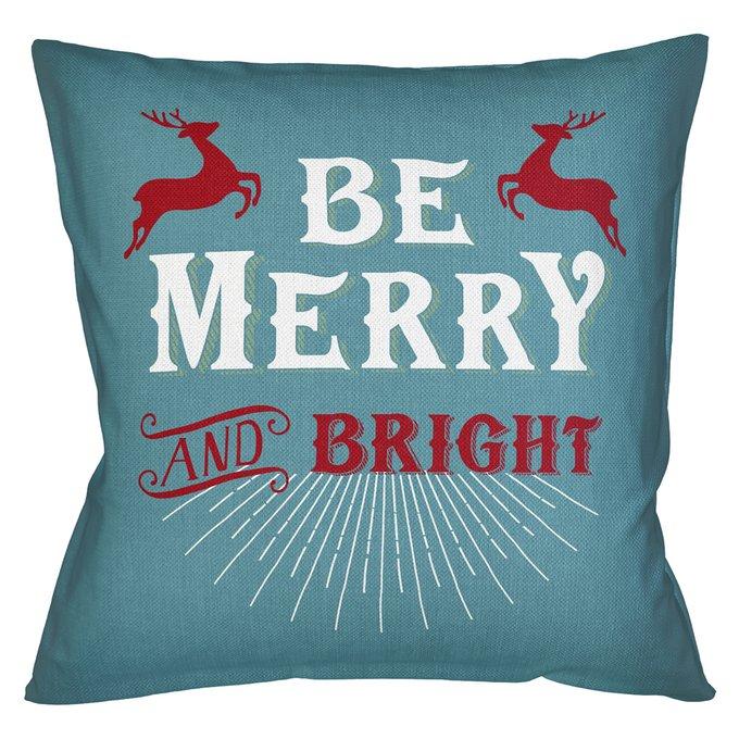 Декоративная арт подушка Новогоднее настроение версия 30